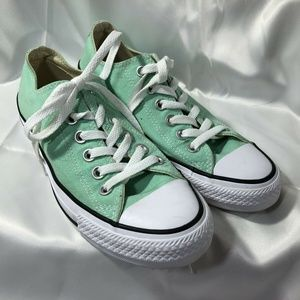 Converse All Star Low Lace Up Shoes Canvas Green